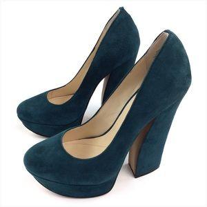 Boutique 9 Faux Suede Platform Heels Size 7 1/2